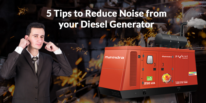5 Tips to Reduce Noise from Your Diesel Generator